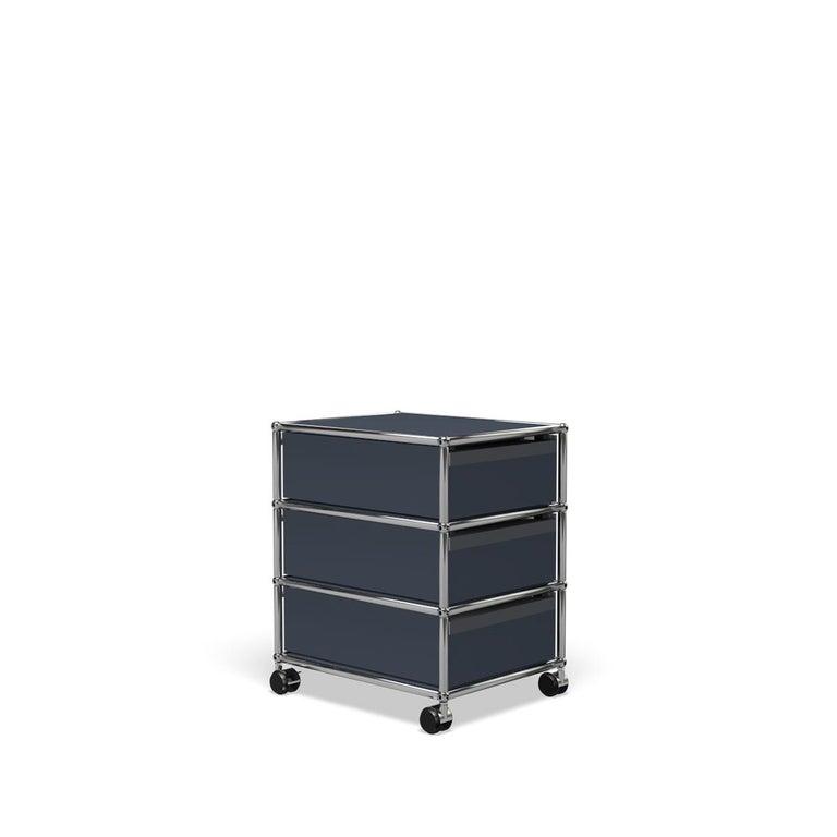 For Sale: Gray (Anthracite) USM Haller Pedestal V Storage System 5