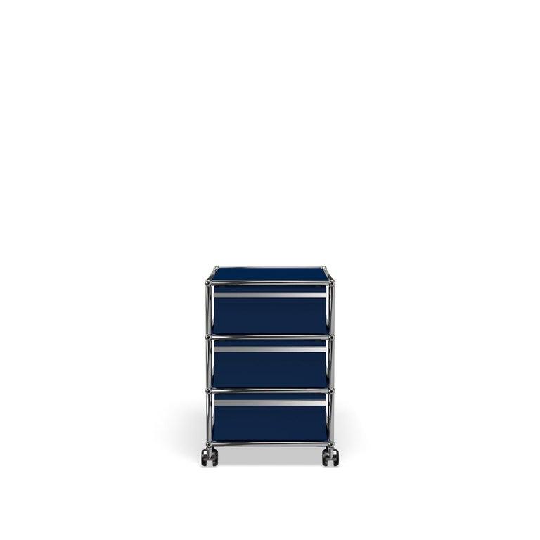 For Sale: Blue (Steel Blue) USM Haller Pedestal V Storage System