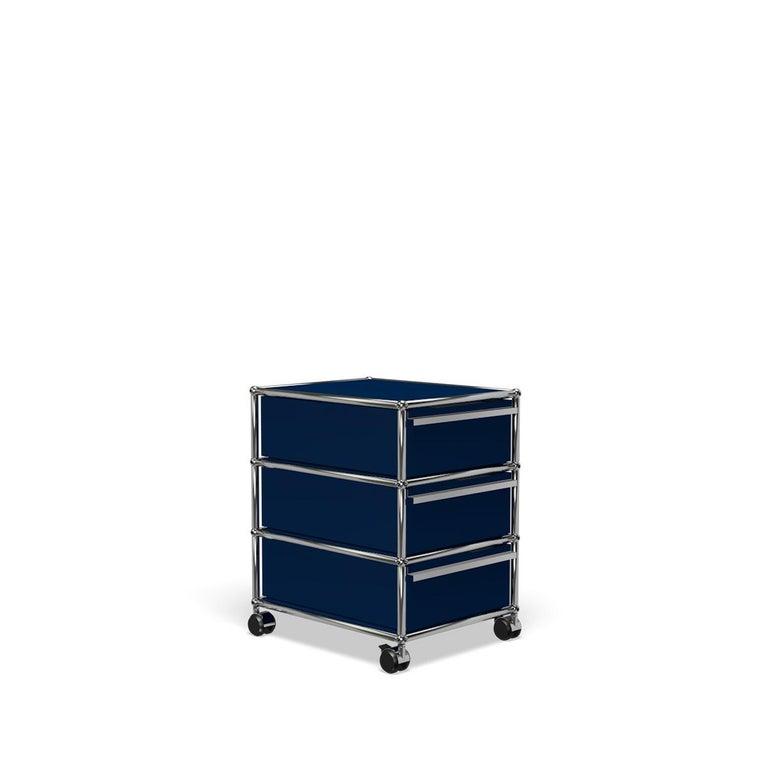 For Sale: Blue (Steel Blue) USM Haller Pedestal V Storage System 2
