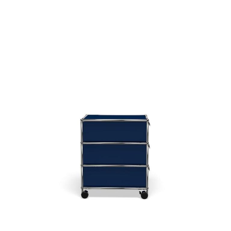 For Sale: Blue (Steel Blue) USM Haller Pedestal V Storage System 3