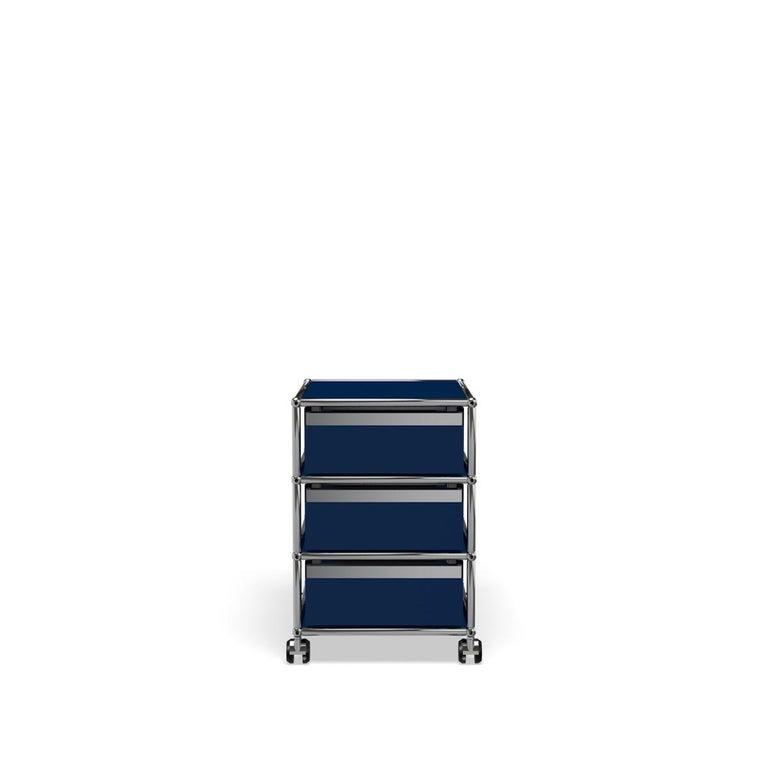 For Sale: Blue (Steel Blue) USM Haller Pedestal V Storage System 4