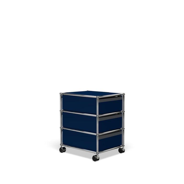 For Sale: Blue (Steel Blue) USM Haller Pedestal V Storage System 5