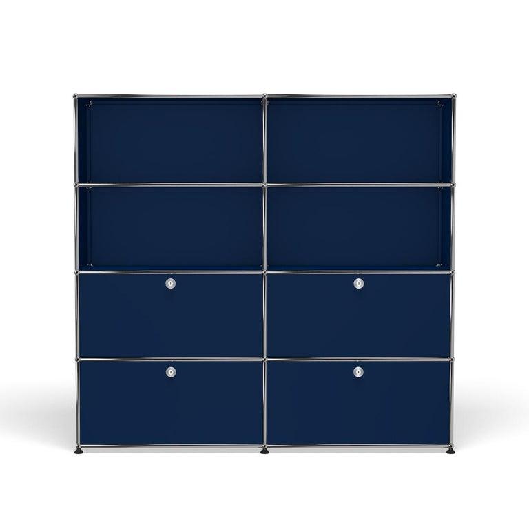 For Sale: Blue (Steel Blue) USM Haller Storage S2 Storage System