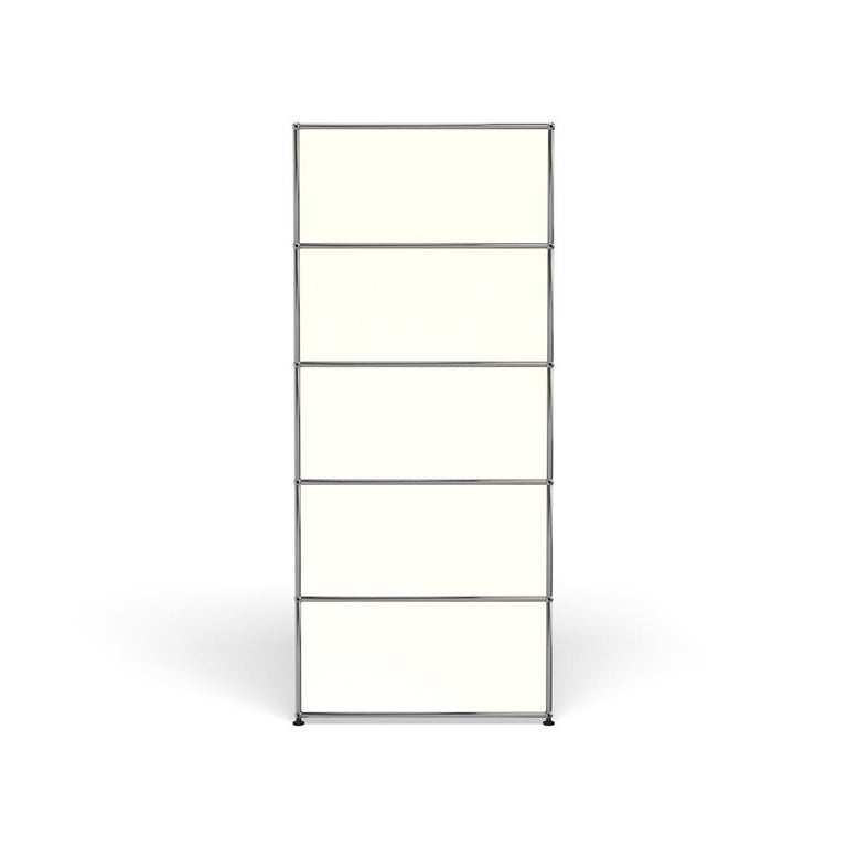 For Sale: White (Pure White) USM Haller Shelving R1 Storage System 4