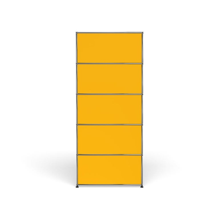 For Sale: Yellow (Golden Yellow) USM Haller Shelving R1 Storage System 4