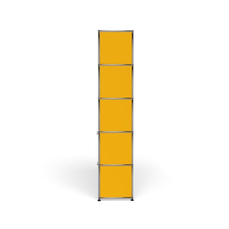 For Sale: Yellow (Golden Yellow) USM Haller Shelving R1 Storage System 3