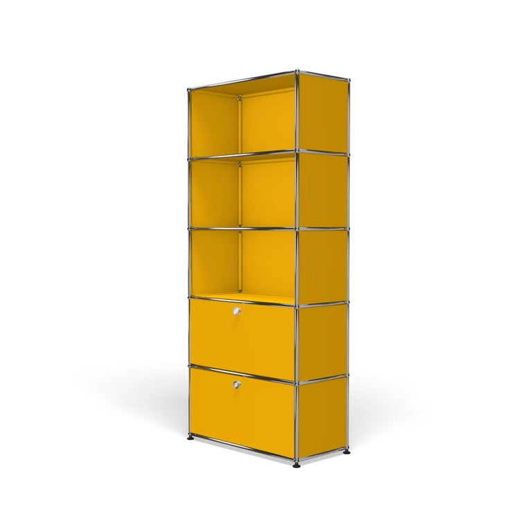 For Sale: Yellow (Golden Yellow) USM Haller Shelving R1 Storage System 2