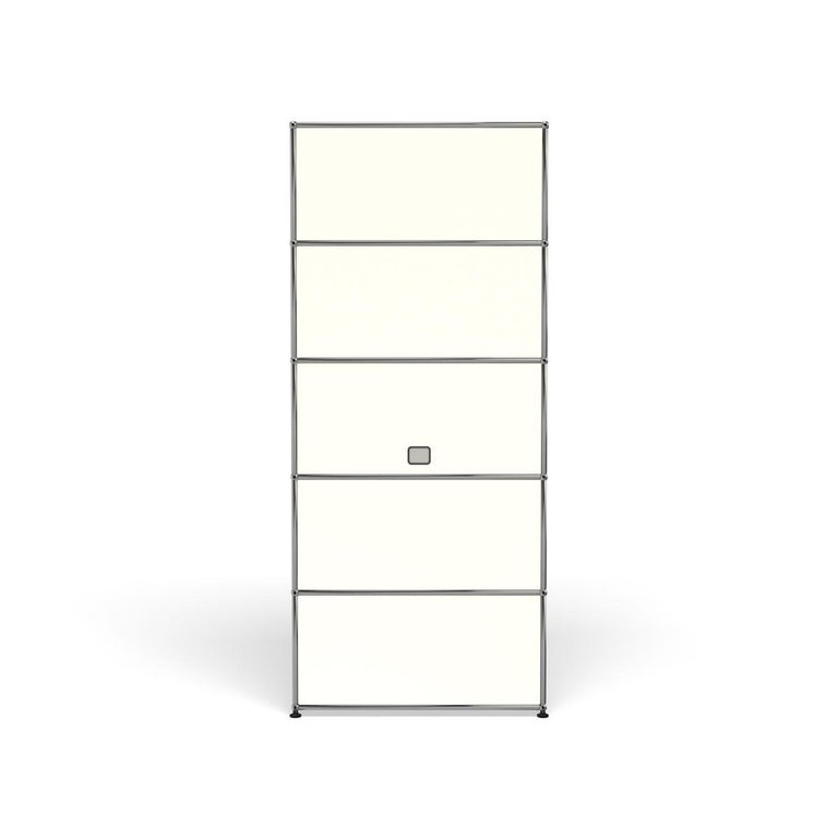 For Sale: White (Pure White) Haller Shelving Q118 Storage System by USM 4