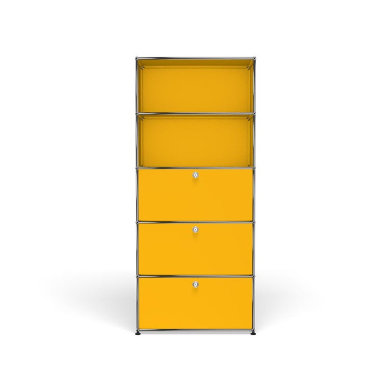 For Sale: Yellow (Golden Yellow) Haller Shelving Q118 Storage System by USM