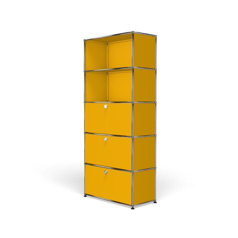 For Sale: Yellow (Golden Yellow) Haller Shelving Q118 Storage System by USM 2