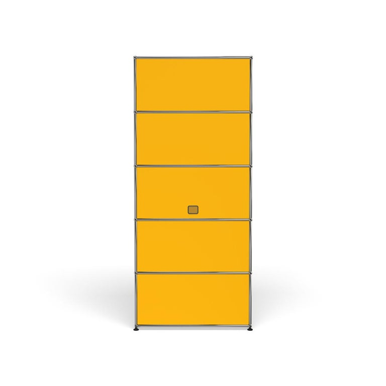 For Sale: Yellow (Golden Yellow) Haller Shelving Q118 Storage System by USM 4