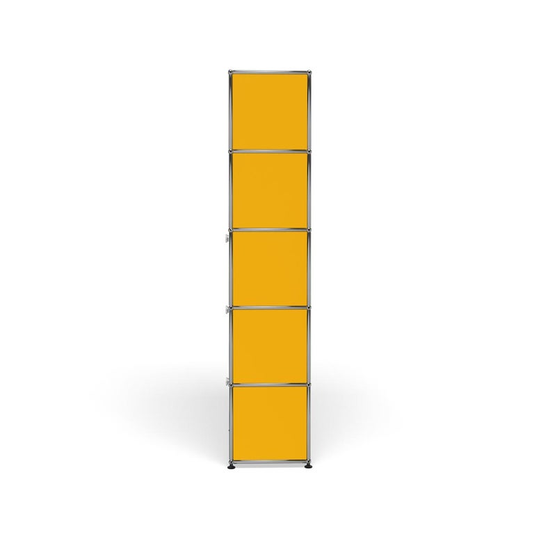 For Sale: Yellow (Golden Yellow) Haller Shelving Q118 Storage System by USM 3