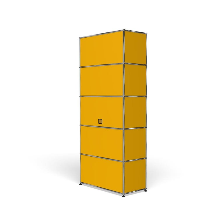 For Sale: Yellow (Golden Yellow) Haller Shelving Q118 Storage System by USM 5