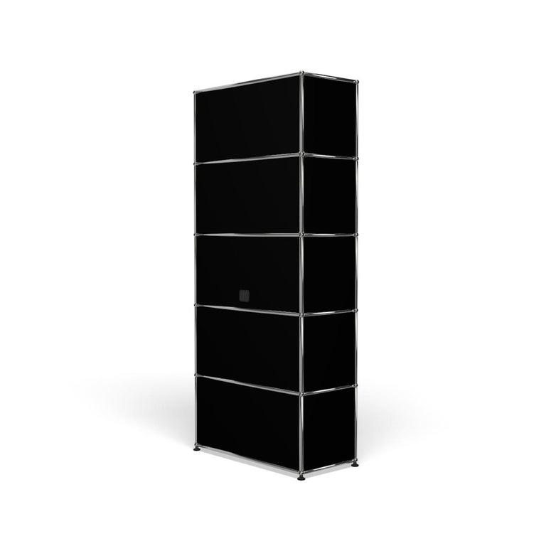 For Sale: Black (Graphite Black) Haller Shelving Q118 Storage System by USM 5