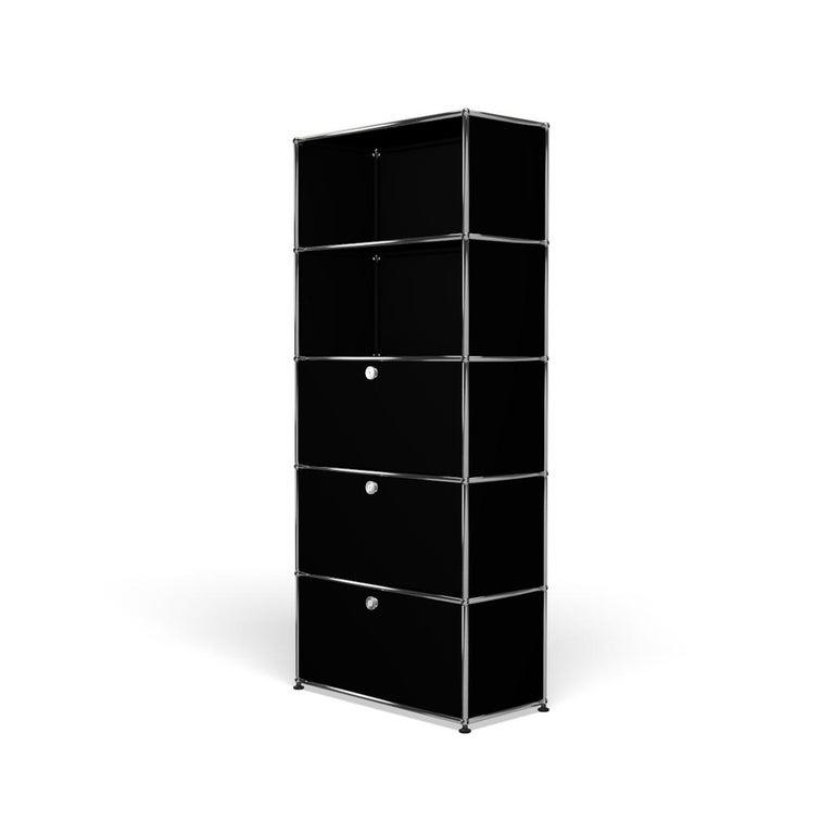 For Sale: Black (Graphite Black) Haller Shelving Q118 Storage System by USM 2