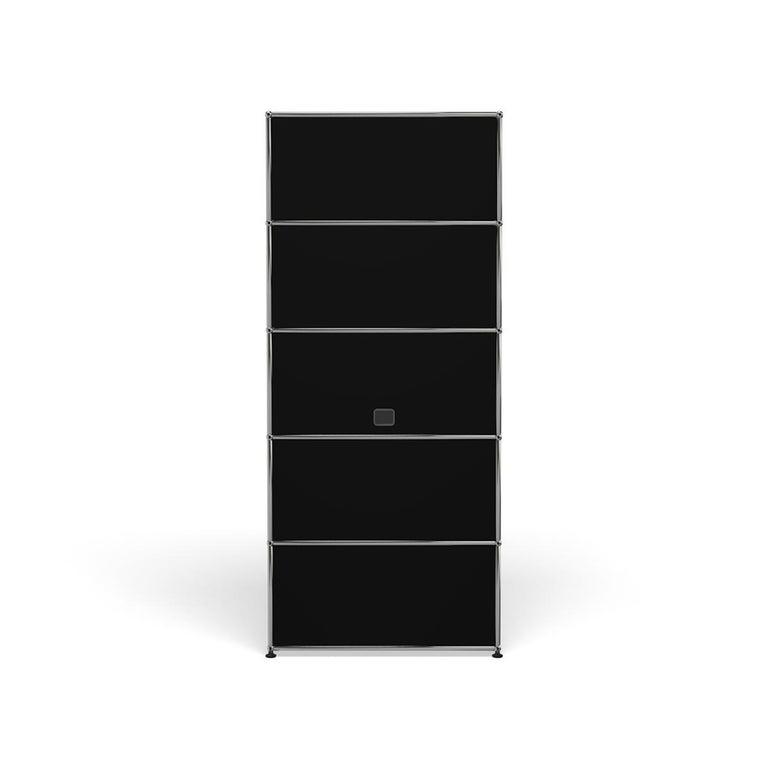 For Sale: Black (Graphite Black) Haller Shelving Q118 Storage System by USM 4