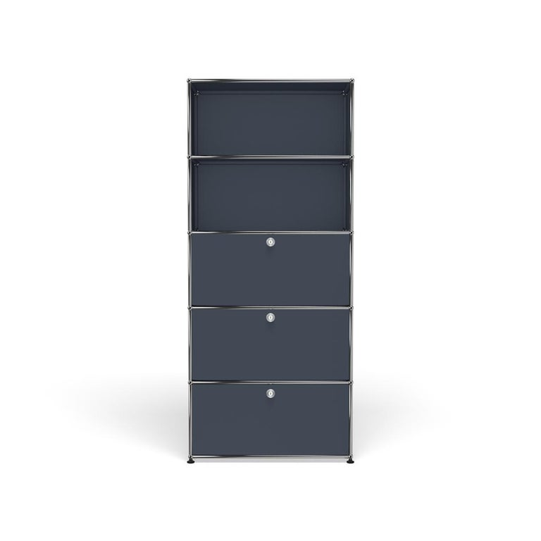 For Sale: Gray (Anthracite) Haller Shelving Q118 Storage System by USM