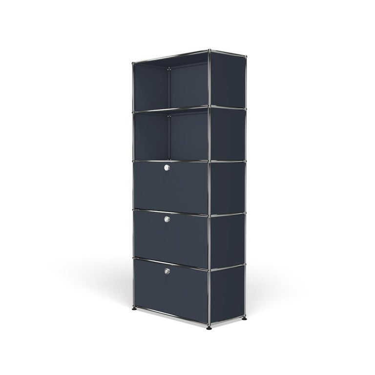 For Sale: Gray (Anthracite) Haller Shelving Q118 Storage System by USM 2