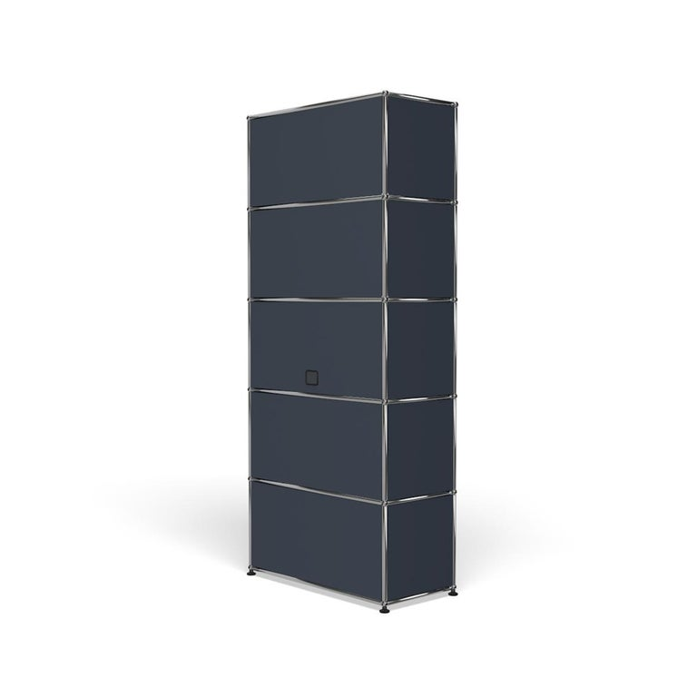 For Sale: Gray (Anthracite) Haller Shelving Q118 Storage System by USM 5