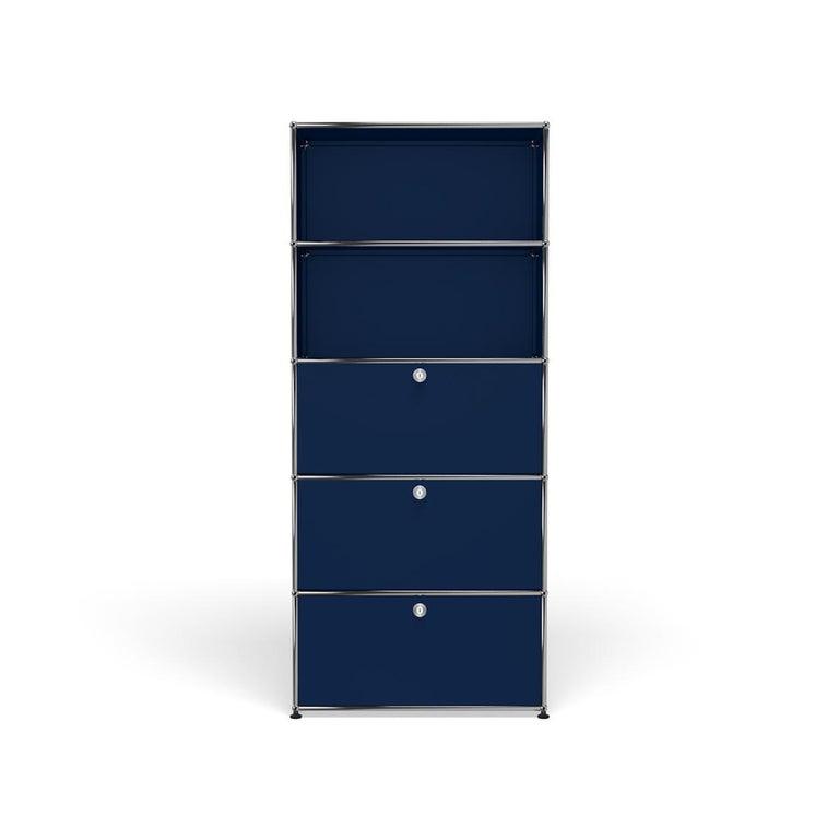 For Sale: Blue (Steel Blue) Haller Shelving Q118 Storage System by USM