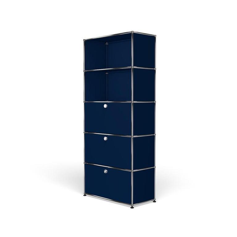 For Sale: Blue (Steel Blue) Haller Shelving Q118 Storage System by USM 2