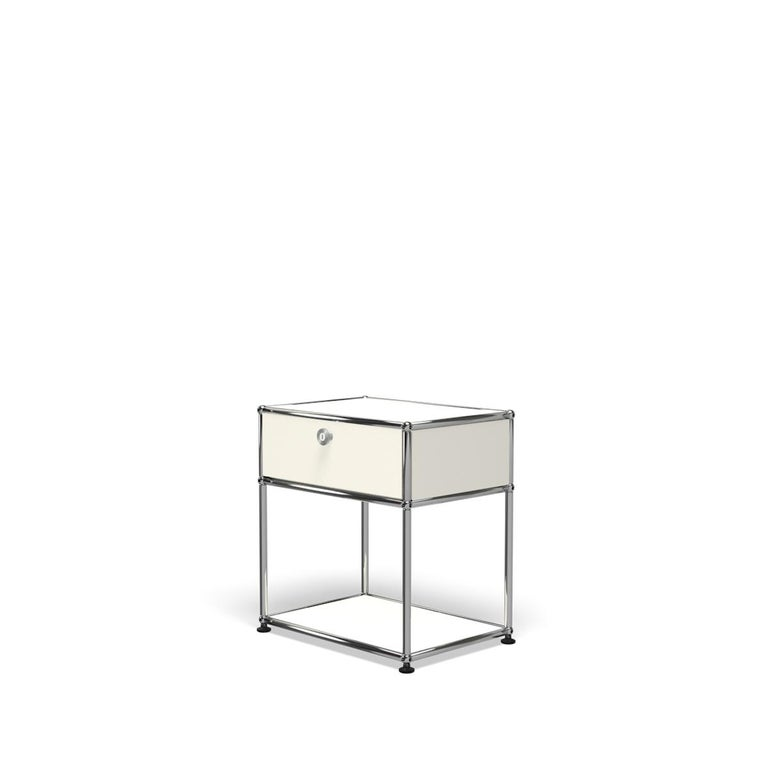 For Sale: White (Pure White) Haller Nightstand P2 Storage System by USM 2