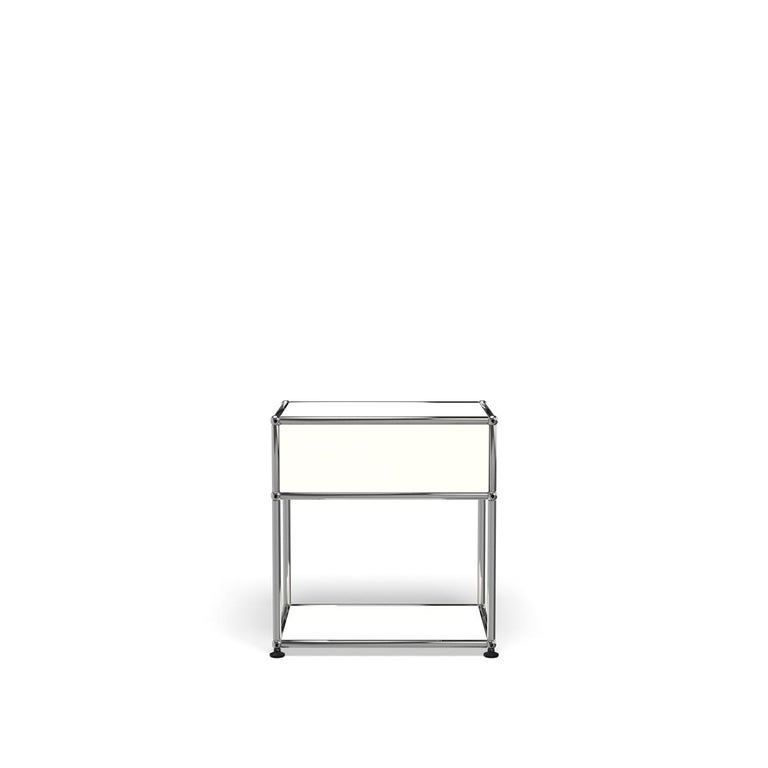For Sale: White (Pure White) Haller Nightstand P2 Storage System by USM 4