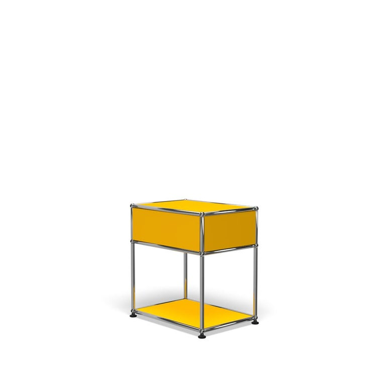 For Sale: Yellow (Golden Yellow) Haller Nightstand P2 Storage System by USM 5
