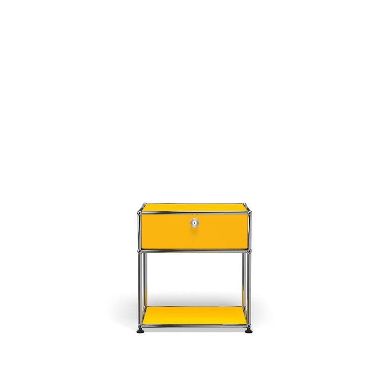 For Sale: Yellow (Golden Yellow) Haller Nightstand P2 Storage System by USM