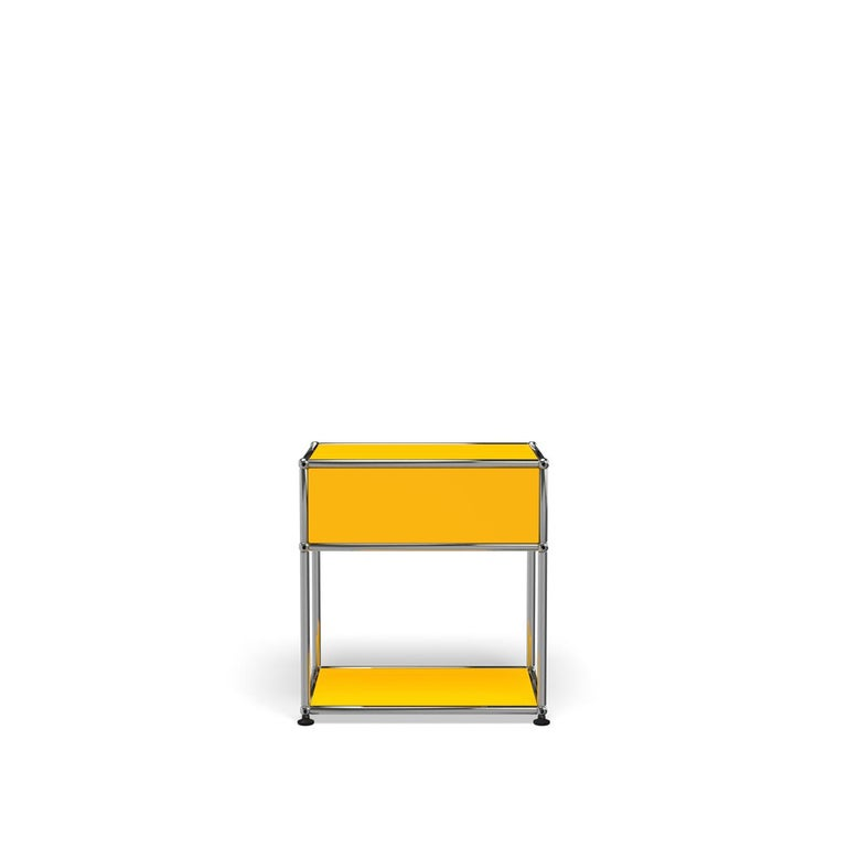 For Sale: Yellow (Golden Yellow) Haller Nightstand P2 Storage System by USM 4