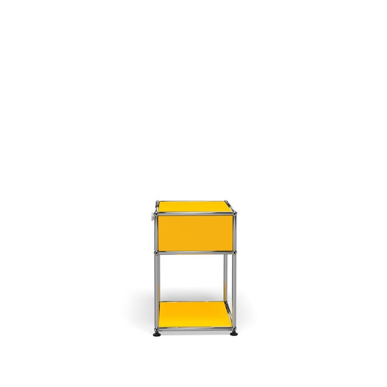 For Sale: Yellow (Golden Yellow) Haller Nightstand P2 Storage System by USM 3