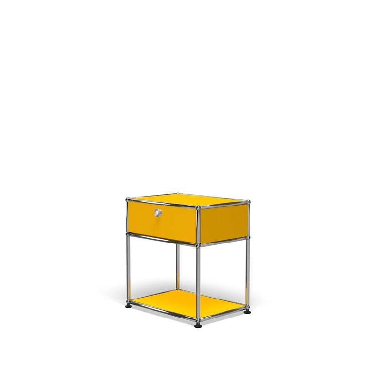 For Sale: Yellow (Golden Yellow) Haller Nightstand P2 Storage System by USM 2