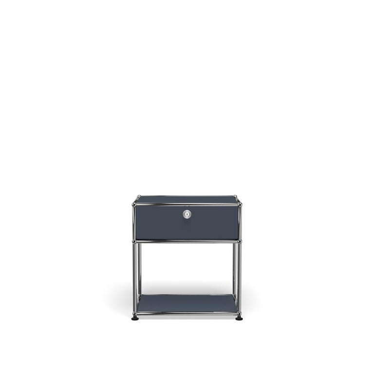 For Sale: Gray (Anthracite) Haller Nightstand P2 Storage System by USM