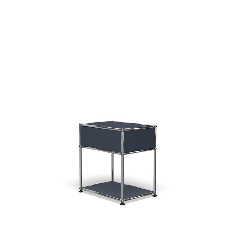 For Sale: Gray (Anthracite) Haller Nightstand P2 Storage System by USM 5