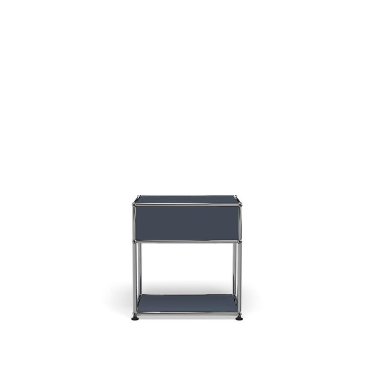 For Sale: Gray (Anthracite) Haller Nightstand P2 Storage System by USM 4