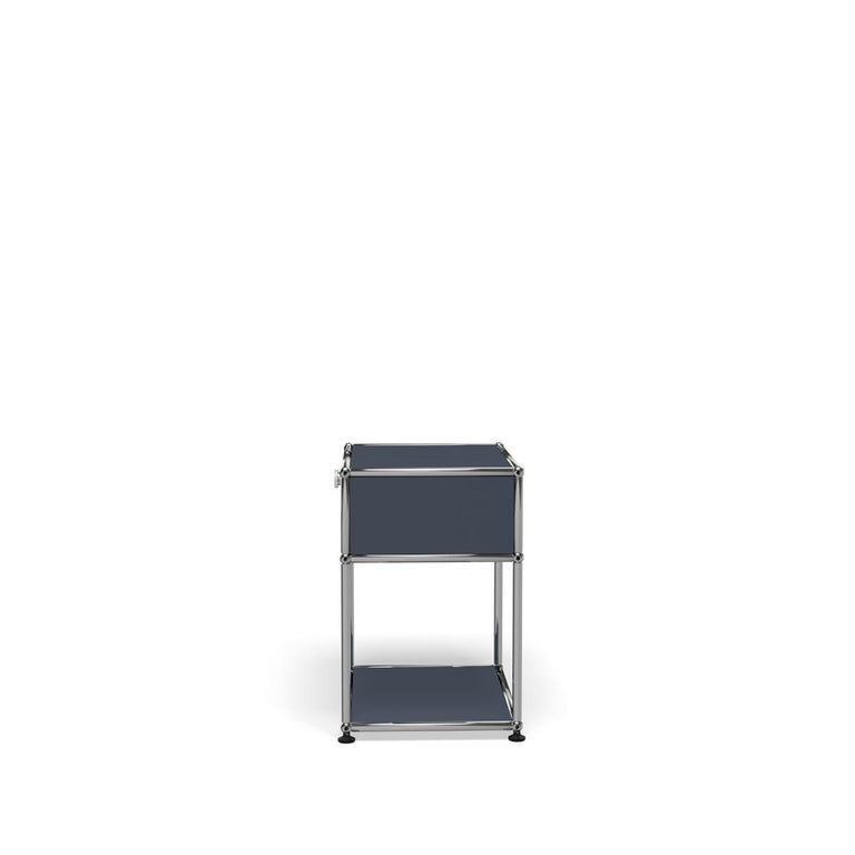 For Sale: Gray (Anthracite) Haller Nightstand P2 Storage System by USM 3