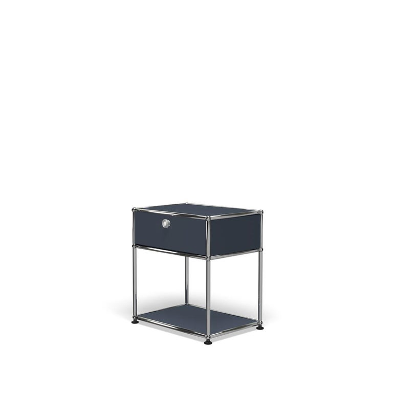 For Sale: Gray (Anthracite) Haller Nightstand P2 Storage System by USM 2