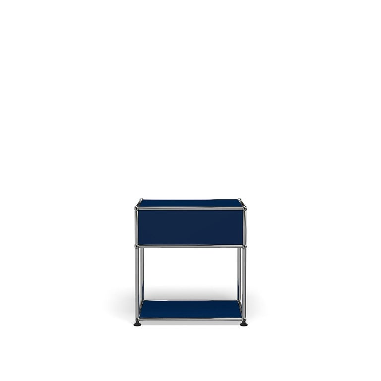 For Sale: Blue (Steel Blue) USM Nightstand P2 Storage System 4