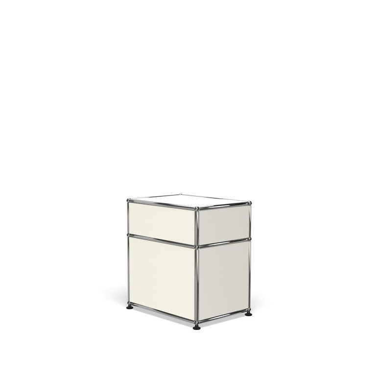 For Sale: White (Pure White) Haller Nightstand P1 Storage System by USM 5
