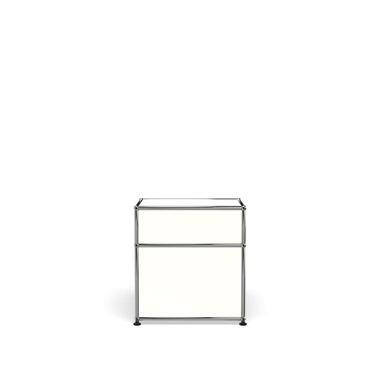 For Sale: White (Pure White) Haller Nightstand P1 Storage System by USM 4