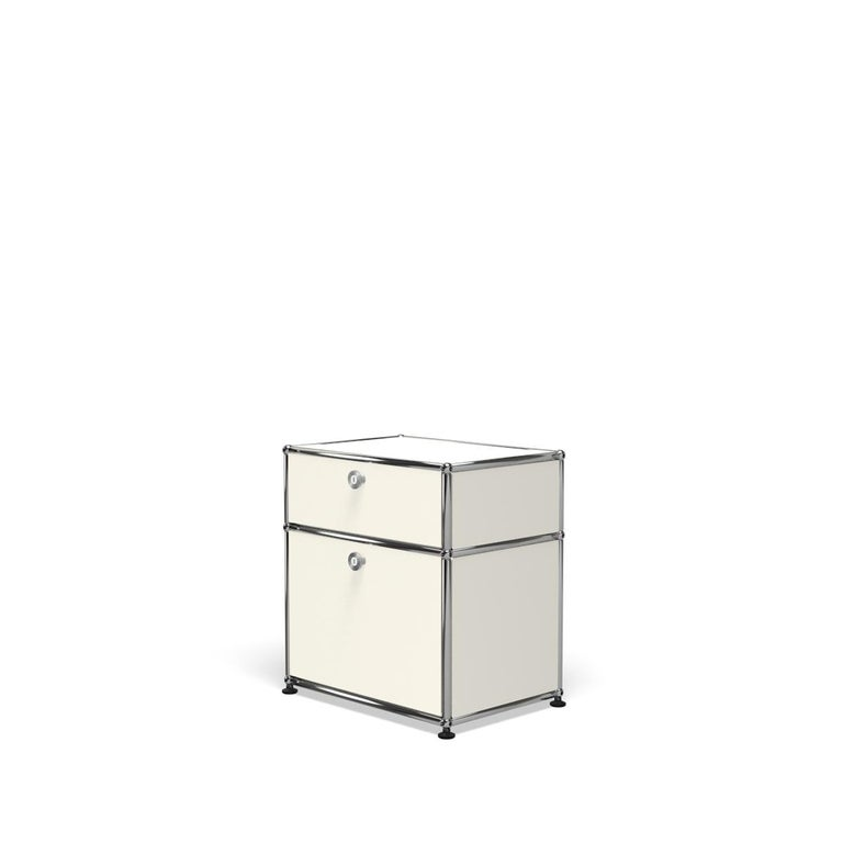 For Sale: White (Pure White) Haller Nightstand P1 Storage System by USM 2