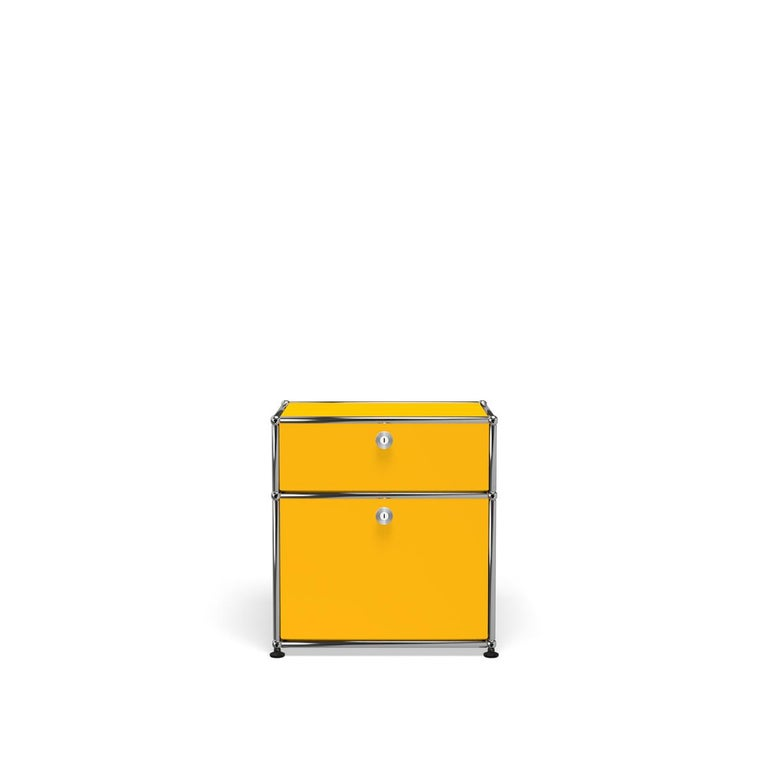 For Sale: Yellow (Golden Yellow) Haller Nightstand P1 Storage System by USM