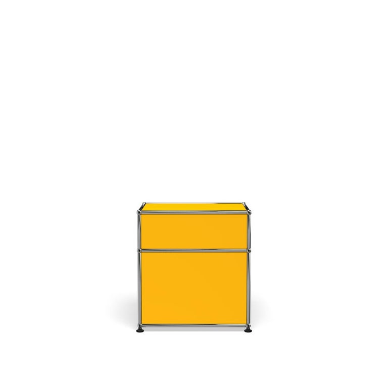 For Sale: Yellow (Golden Yellow) Haller Nightstand P1 Storage System by USM 4