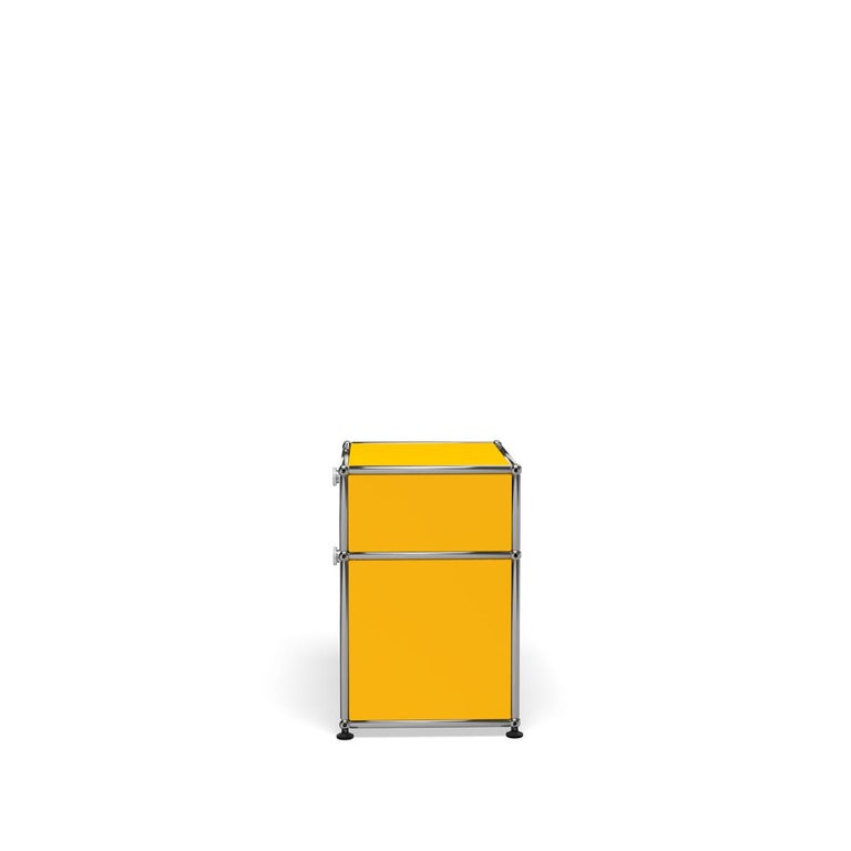 For Sale: Yellow (Golden Yellow) Haller Nightstand P1 Storage System by USM 3