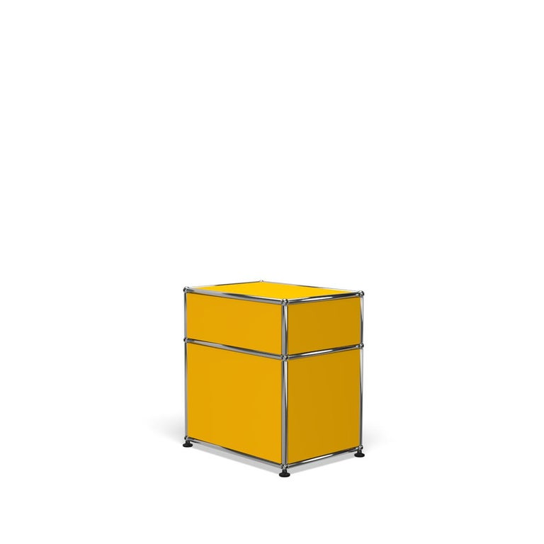 For Sale: Yellow (Golden Yellow) Haller Nightstand P1 Storage System by USM 5