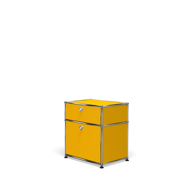 For Sale: Yellow (Golden Yellow) Haller Nightstand P1 Storage System by USM 2