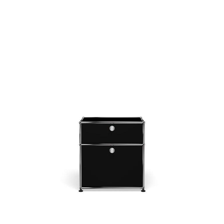 For Sale: Black (Graphite Black) Haller Nightstand P1 Storage System by USM