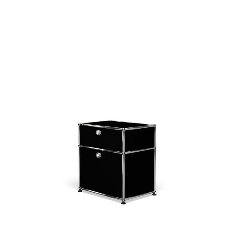 For Sale: Black (Graphite Black) Haller Nightstand P1 Storage System by USM 2
