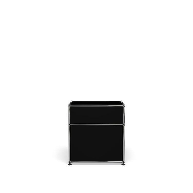 For Sale: Black (Graphite Black) Haller Nightstand P1 Storage System by USM 4
