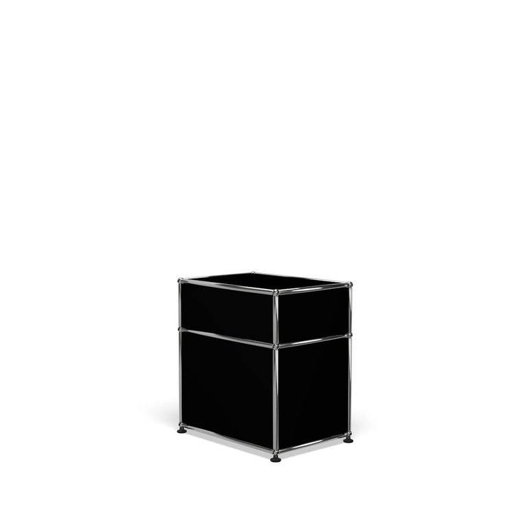 For Sale: Black (Graphite Black) Haller Nightstand P1 Storage System by USM 5